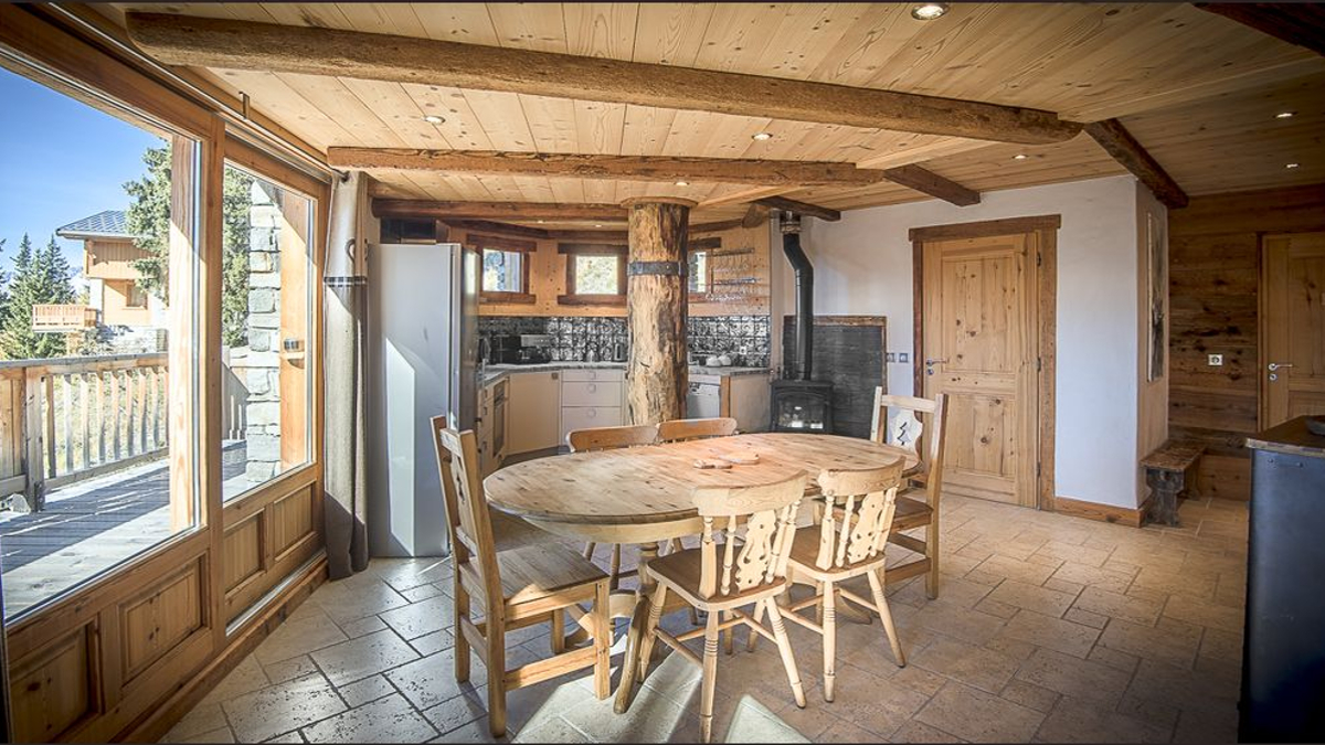 photos location chalet la rosi re skis aux pieds. Black Bedroom Furniture Sets. Home Design Ideas